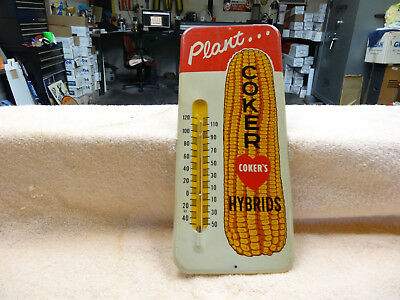 OLD COKERS HYBRIDS CORN THERMOMETER 1950s