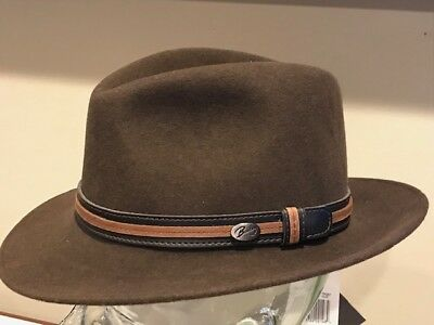 7512c0cfb06d2  120 Bailey of Hollywood BRANDT Lanolux Wool Hat Down Brim Fedora Small New