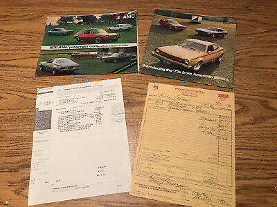 Lot AMC Car Brochures '73 & '76 American Motors Pacer, Gremlin, Matador, Javelin