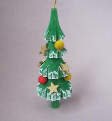 CHRISTMAS TREE Authentic German Seiffen Wood Christmas Ornament made in Germany