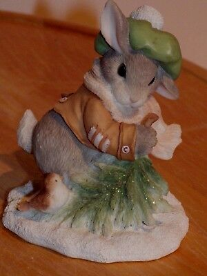 '96 Enesco My Blushing Bunnies Wintertime Blessings *mint* 178616 Christmas