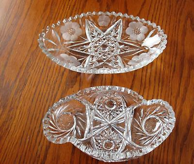 Pair of Brilliant Cut Glass Dishes