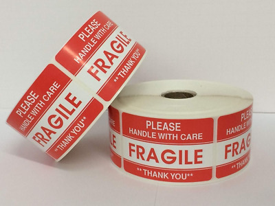 "BESTeck 2"" x 3"" Fragile Handle With Care - Thank you Shipping Labels Stickers Gl"