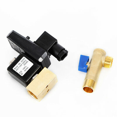 """Electronic Timed Air Compressor Automatic 2-way Drain Valve AC 110V 1/2"""" US SHIP"""