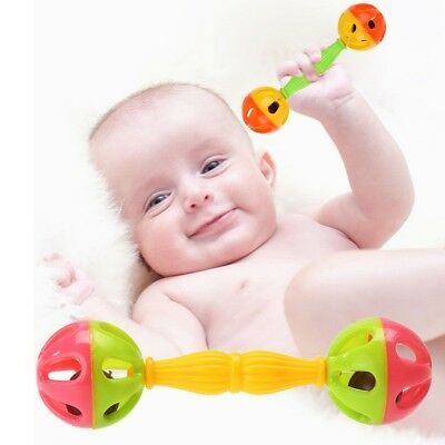 0-12M Baby Toy Rattles Bell Shaking Dumbells Early Intelligence Development Toys