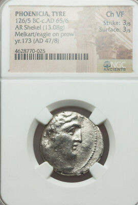 Silver Shekel Tyre  30 pieces of silver Coins of the Bible NGC life of Jesus