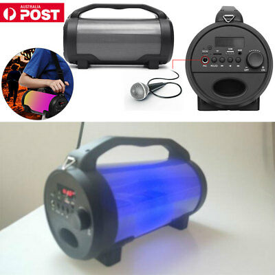 Portable Dancing LED Wireless Bluetooth Speaker Subwoofer Boombox Super Bass
