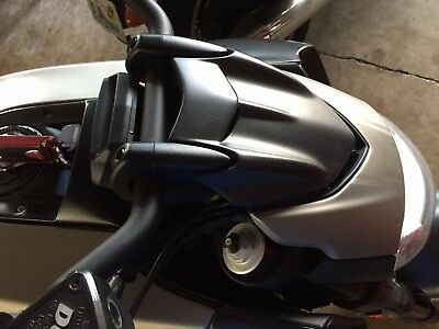 DUCATI DIAVEL CARBON FIBER OEM  HEADLIGHT COVER with BASE SUPPORT BRACKET
