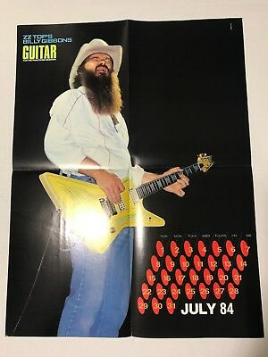 ZZ Tops Billy Gibbons Poster (July 1984)