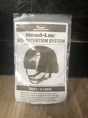 Brand New OPS-CORE HEAD-LOC ACH Retention System CHINSTRAP Large / X-Large
