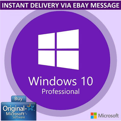 Instant Windows 10 Pro 32 / 64Bit Professional License Key Original Code Oem