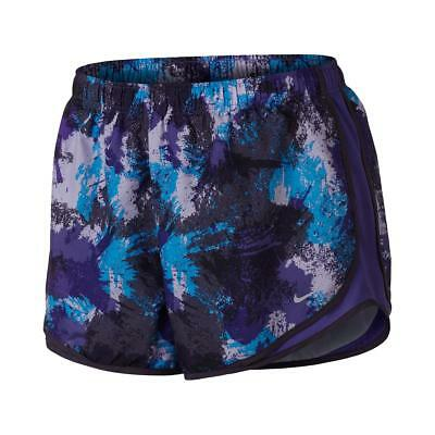 Nike Womens Tempo Purple Dri-Fit Printed Shorts Athletic Plus 1X BHFO 2718