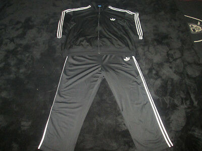 New With Tags Adidas Originals Adi Firebird Tracksuit (Size 4Xl) Black & White