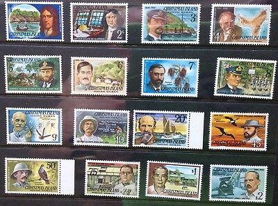 CHRISTMAS ISLAND - Famous Visitors set 16 - 1977/78 - MNH stamps