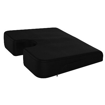 Memory Foam Seat Cushion Back Support Wedge Orthopedic Lumbar Coccyx Pain Relief