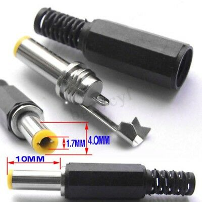 1.7 mm x 4.0 mm Male DC Power Plug Coaxial Connector CCTV Cables Soldering