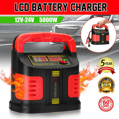 5000W LCD Car Plus Repair Adjust Battery Charger Jump Starter Booster