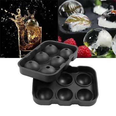 6-balls Large Cocktail Ice Maker Sphere Tray Cube Whiskey DIY Round Mould new