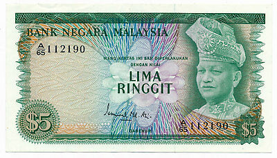 Malaysia 5 Ringgit ND 1976 P. 14a aUNC Note
