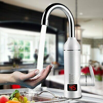 360° Electric Faucet Tap Hot Water Heater Instant For Home Bathroom Kitchen Boat