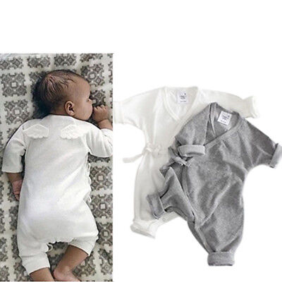 Newborn Infant Baby Boy Girl Cotton Rompers Cute Jumpsuits Overalls Jumpsuit AU