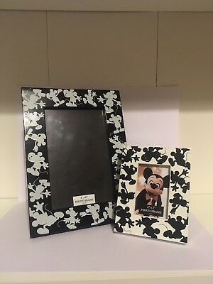 Two Walt Disney World Mickey Mouse Photo Frames (4 x 6 and 2 x 3).