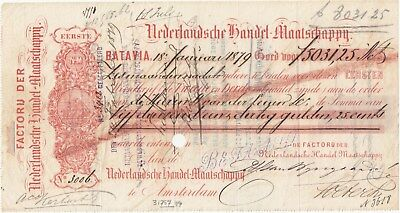 Wechsel Batavia 1879, Bill of exchange, Lettre de change, Cambio