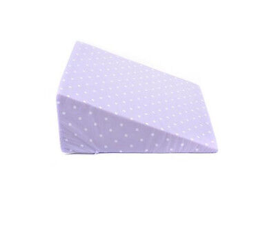 Lilac Polka Dot Patterned Bed Wedge - Positioning Aid, Comfort, Support
