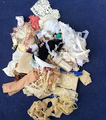 Vintage Lot of TRIMS, 'UP Ended Drawer' Gorgeous, Crafts, dolls, cushions More .