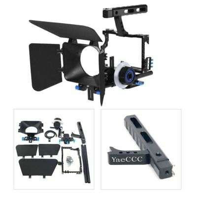 DSLR Camera Video Cage Shoulder Mount Rig Matte Box Follow Focus Kit for Sony