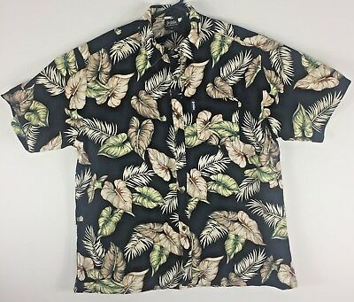 🍃 Kai-Veikau Men's 3XL Hawaiian Shirt Floral Hibiscus Fiji Made *EUC 🍃