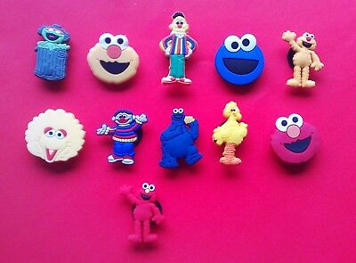 11 New Sesame Street jibbitz croc shoe charm cake toppers see both pictures
