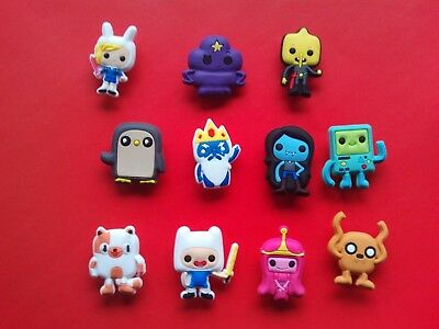 11 x ADVENTURE TIME WITH FINN AND JAKE Croc Shoe Charms Crocs Jibbitz Wristbands