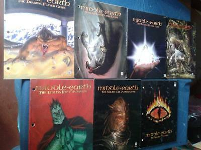 Lotto 7 manuali ENG MIDDLE EARTH the wizards CCG Tolkien Rare rari