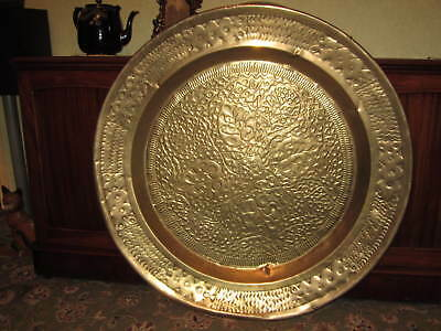 A very large brass table top or plaque