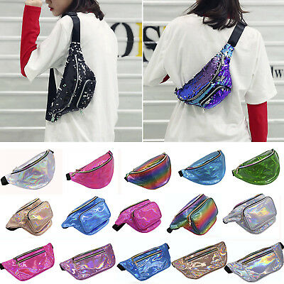 Laser Bum Bag Fanny Pack Pouch Travel Festival Waist Belly Holiday Money Wallets