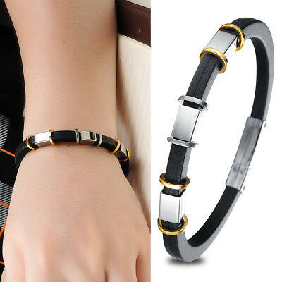 Hot Sale Fashion Jewelry Men Boy Silicone Bracelets Bangle for Party Man Gift