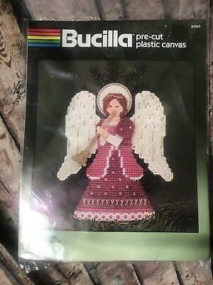 "NIP Brucilla Pre-cut Plastic Canvas ""victorian Angel"" Tree Topper 9"" #61040"