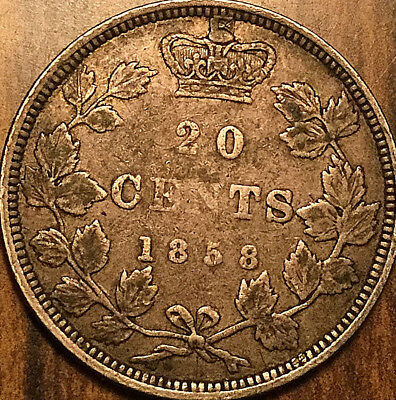 1858 Canada Silver 20 Cents Silver Twenty Cents