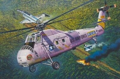 HH-34J USAF COMBAT RESCUE BY MRC KIT Trumpeter 1:48 TR64104 Miniature
