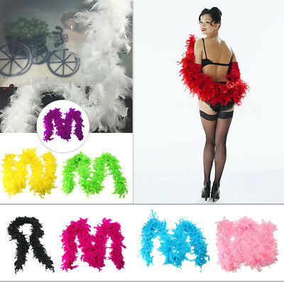 Quality White Feather Boa Flapper Hen Night Burlesque Dance Party Show Costume