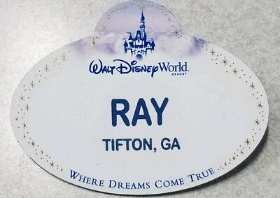 Walt Disney World Authentic Cast Member Name Tag Ray