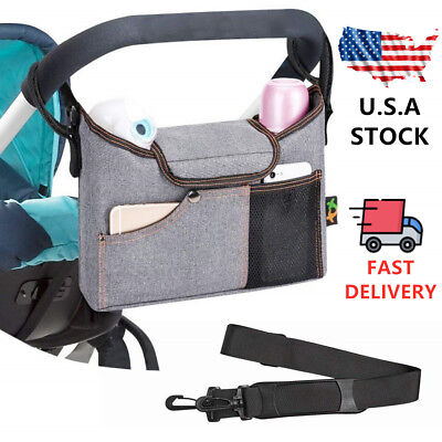 Universal Baby Trolley Storage Bag Stroller Cup Carriage Buggy Organizer USA
