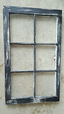 Vintage Sash Antique Wood Window Picture Frame Pinterest  Distressed Black Old
