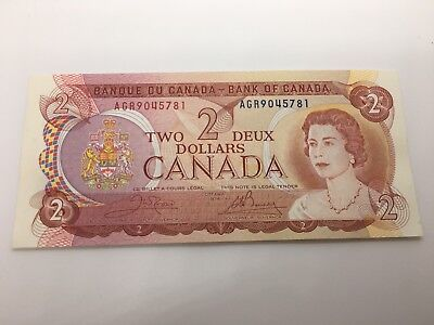 1974 & 1986  Canada Two 2 Dollar Banknotes (2 Note lot)