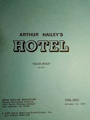 """Extremely Rare Original Script From The American Television Drama """"hotel"""""""