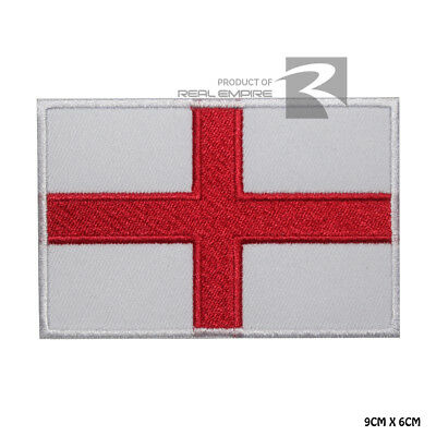 England National Flag Iron on Sew on Embroidered Patch Badge For Clothes Etc