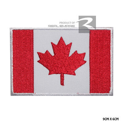 Canada National Flag Iron on Sew on Embroidered Patch Badge For Clothes Etc