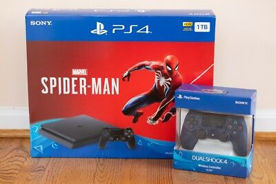 **BRAND NEW** Sony PlayStation 4 Spiderman Console Bundle PS4 w Extra Controller