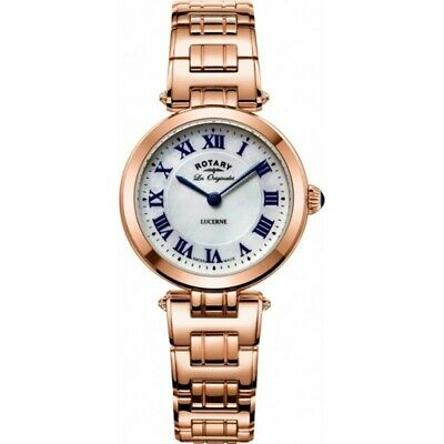 Rotary LB90189/41 Ladies Les Originales Lucerne Rose Gold Swiss Watch RRP £289